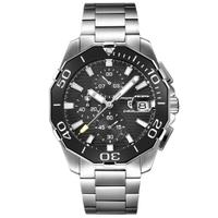 PAGANI DESIGN   黑水鬼 潛水錶系列 白刻度 銀鋼男錶 PD-1617 【Watch-UN】