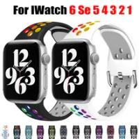 สำหรับ Apple Watch Band Se 40มม.44มม./42มม./38มม.ซิลิโคนเข็มขัดกีฬาสร้อยข้อมือ IWatch Series 6 5 4 3 21 Watchband