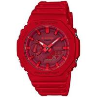 【CASIO 卡西歐】G-SHOCK 八角農家橡樹雙顯手錶(GA-2100-4A)