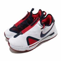 【NIKE 耐吉】籃球鞋 PG 4 EP USA 低筒 男鞋 喬治 拉鍊 美國隊 球鞋 白 藍(CD5082-101)
