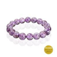 【精品水晶工坊】驚豔紫黃晶圓珠手鍊