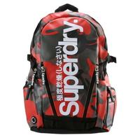 跩狗嚴選開學慶 正品 極度乾燥 Superdry 紅迷彩 Logo 防水 後背包 背包 書包 15吋 筆電包