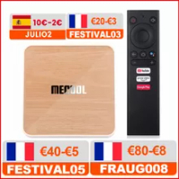 Global Mecool KM6 deluxe edition Amlogic S905X4 TV Box Android 10 4G 64GB Google Certified Support Wifi6 AV1 BT1000M Set Top Box