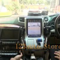 12.1'' Vertical Tesla Style Android 9.0 Car DVD GPS Navigation Player radio for Toyota alphard Vellfire 20 series 2007-2014 JBL