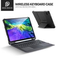DD 蘋果iPad藍牙鍵盤ipad pro11吋(2020)/air4 10.9吋外接式平板保護套 智能休眠 附注音貼紙