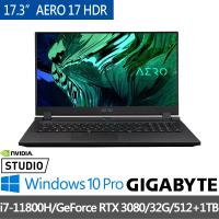【GIGABYTE 技嘉】AERO 17 HDR YD 17.3吋 筆記型電腦(i7-11800H/GeForce RTX 3080/32G/512+1TB SSD/Win10P)