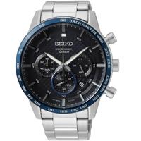 刷卡滿3千回饋5%點數|Seiko 精工錶 8T63-00L0D(SSB357P1)  時尚潮男計時腕錶 /藍*黑 45mm