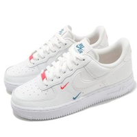 【NIKE 耐吉】小藍紅勾 Nike W Air Force 1 Low 小雙勾 刺繡 增高 AF1 女款(CT1989-101)