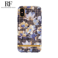 【Richmond&Finch】RF瑞典手機殼 金線框-棋盤花格(iPhone X/Xs 5.8吋)